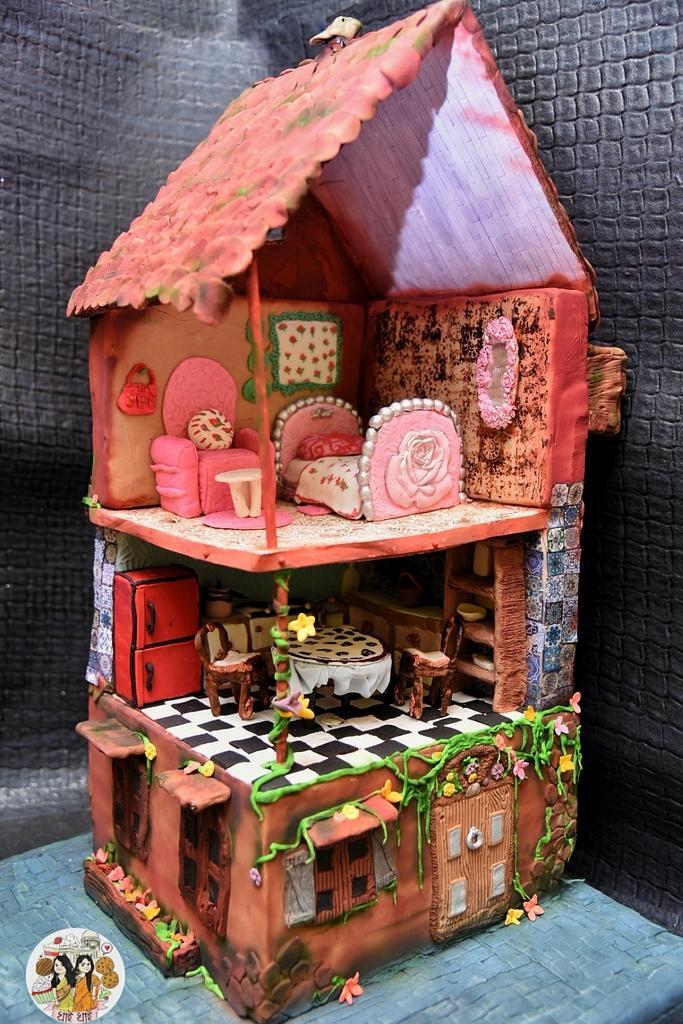 Tags ---- cakerbuddiescollab,  miniaturedollhouse, sugarcrafted, pdcacakerbuddies, pastillage  🦄 by Ananya