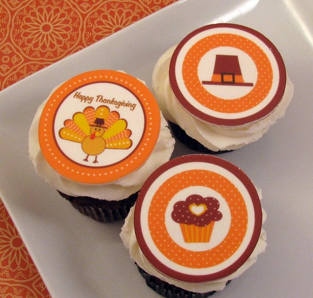Thanksgiving Cupcakes by Cheryl