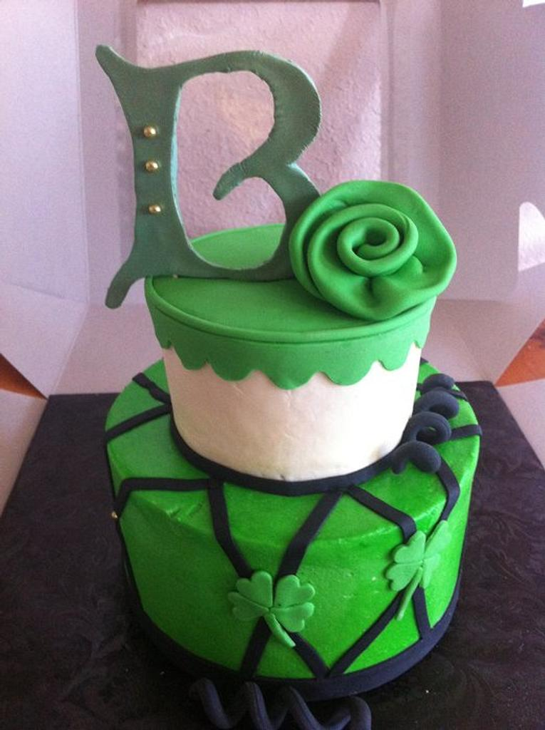 St. Patty's day birthday cake by Rebecca Litterell