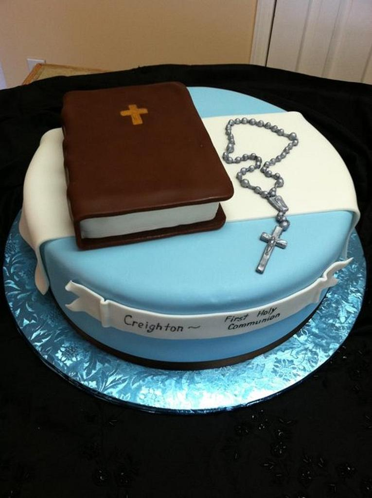 First Communion cake by Tetyana