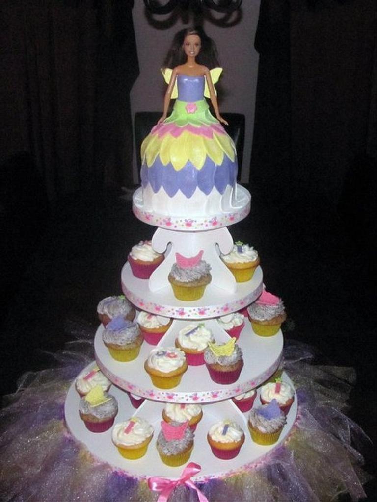 Barbie Fairy Cupcake Tower by Jaybugs_Sweet_Shop