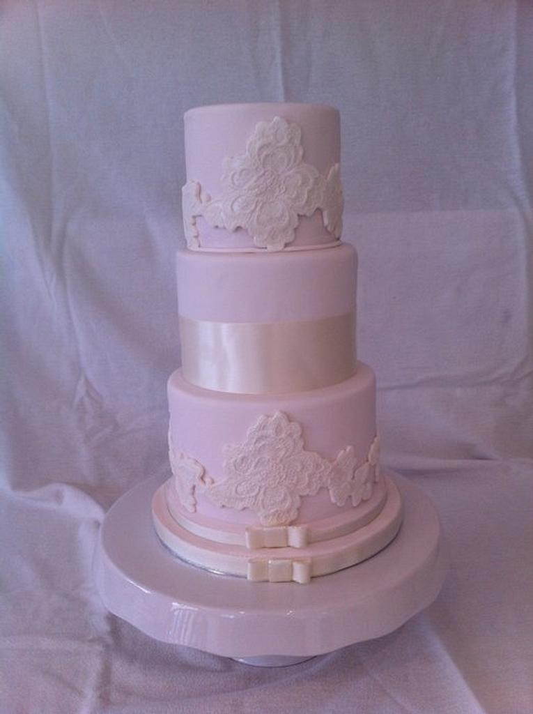 my first wedding cake by sasha