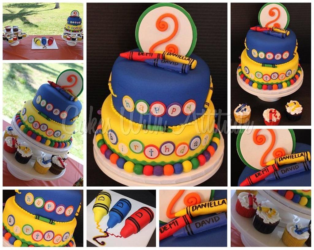 Crayon Cake by Viviana & Guelcys