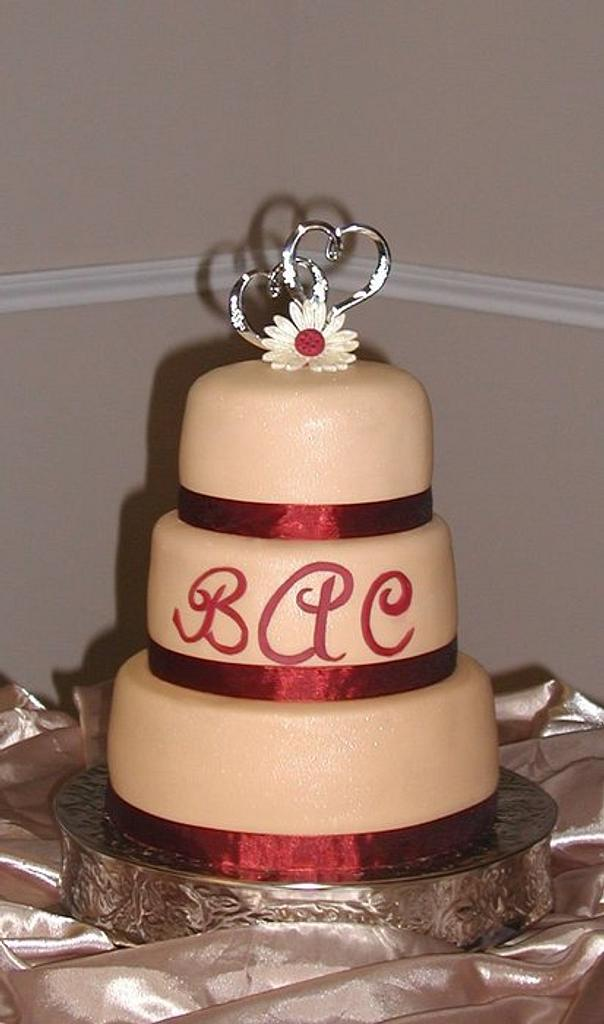 Champagne Wedding Cake by Peggy Does Cake