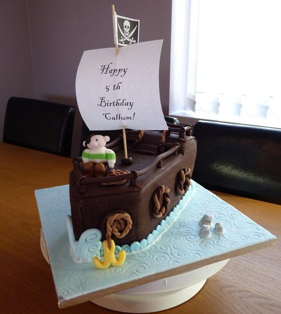 Pirate Ship Birthday Cake by Sharon Todd