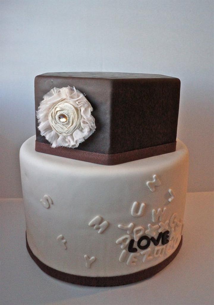 Rustic Alphabet Cake by manda