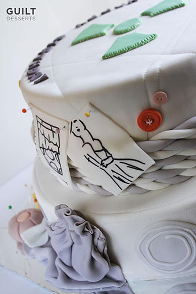 Fashion Designer Birthday Cake by Guilt Desserts