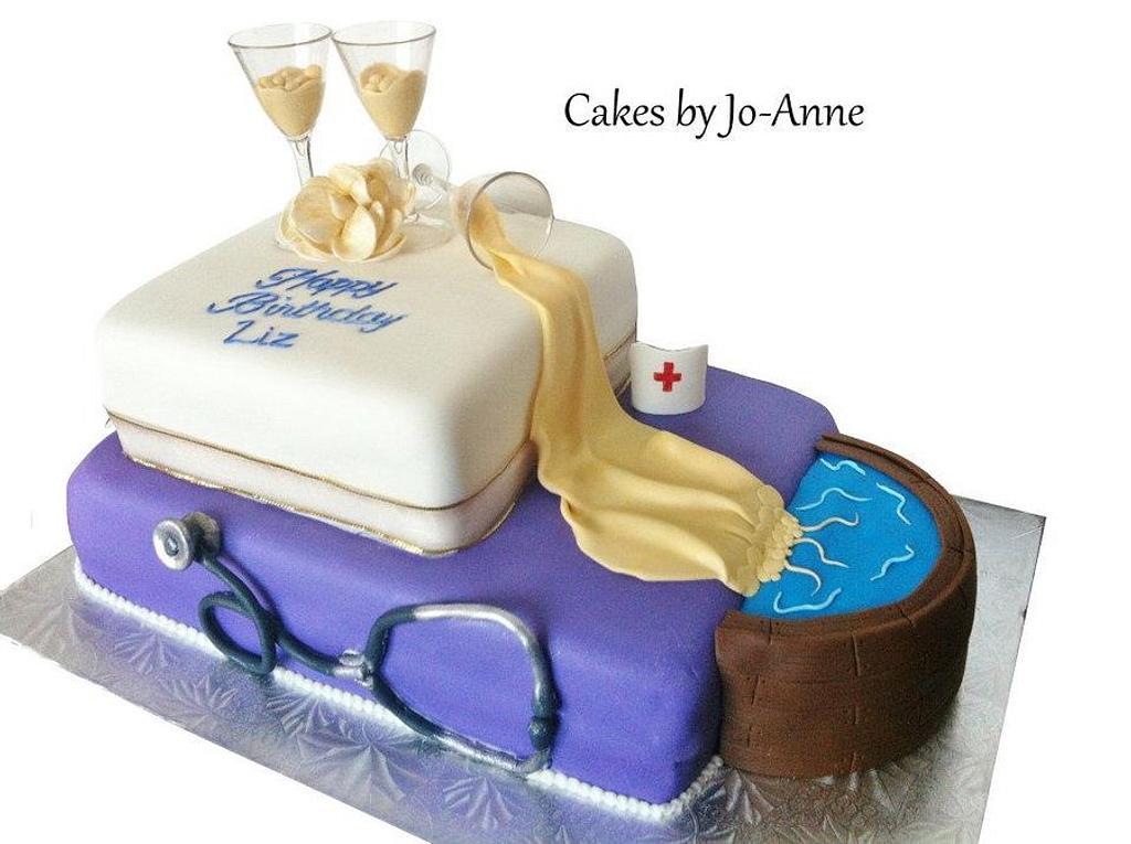 Nurse's Birthday by Cakes by Jo-Anne