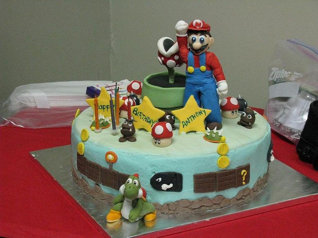 Super Mario Cake by juicybon