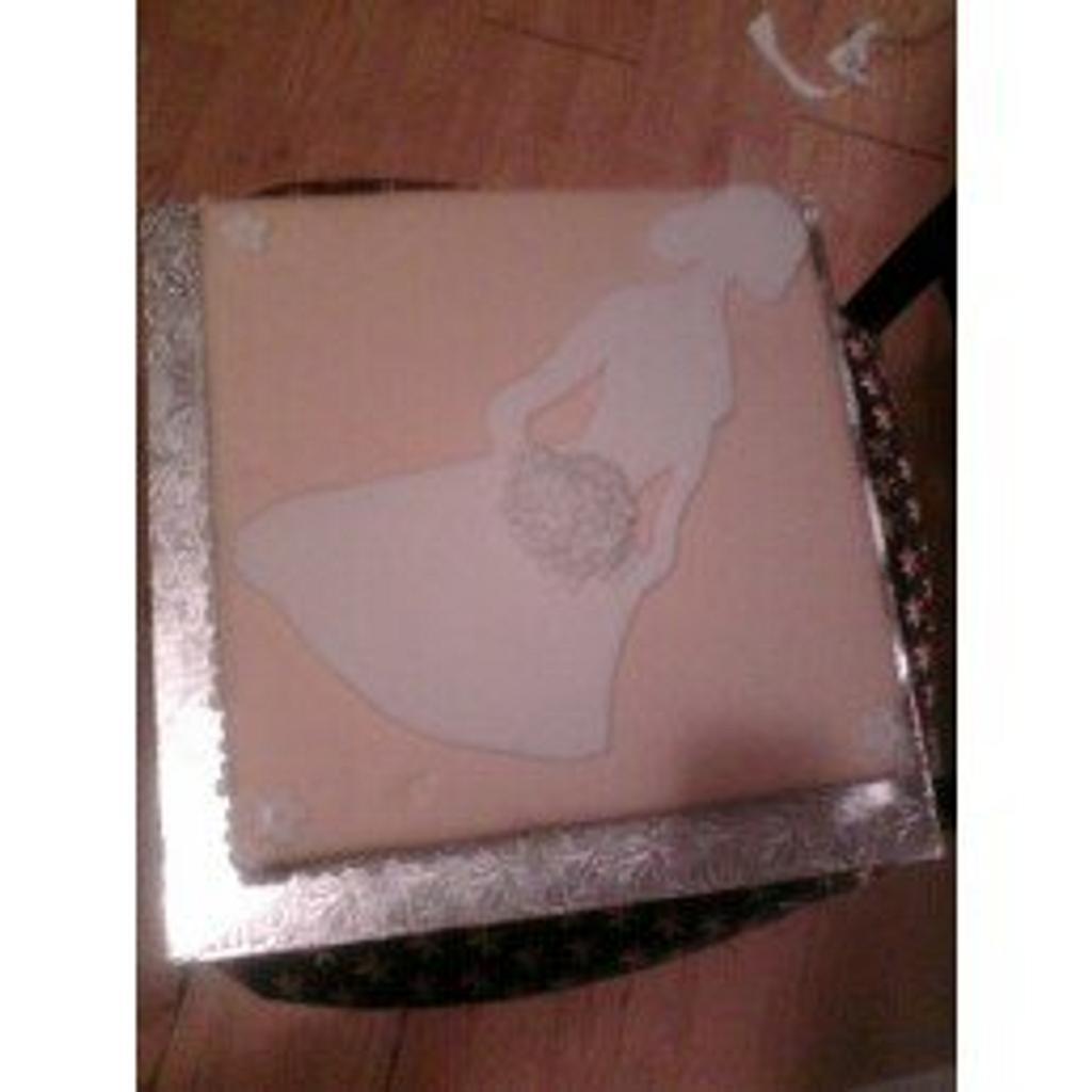 Bridal Display Cake  by jujucakes