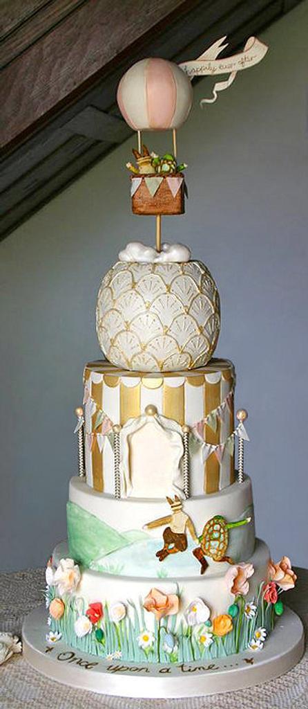 Whimsical Hot Air Balloon Wedding Cake by Sada Ray