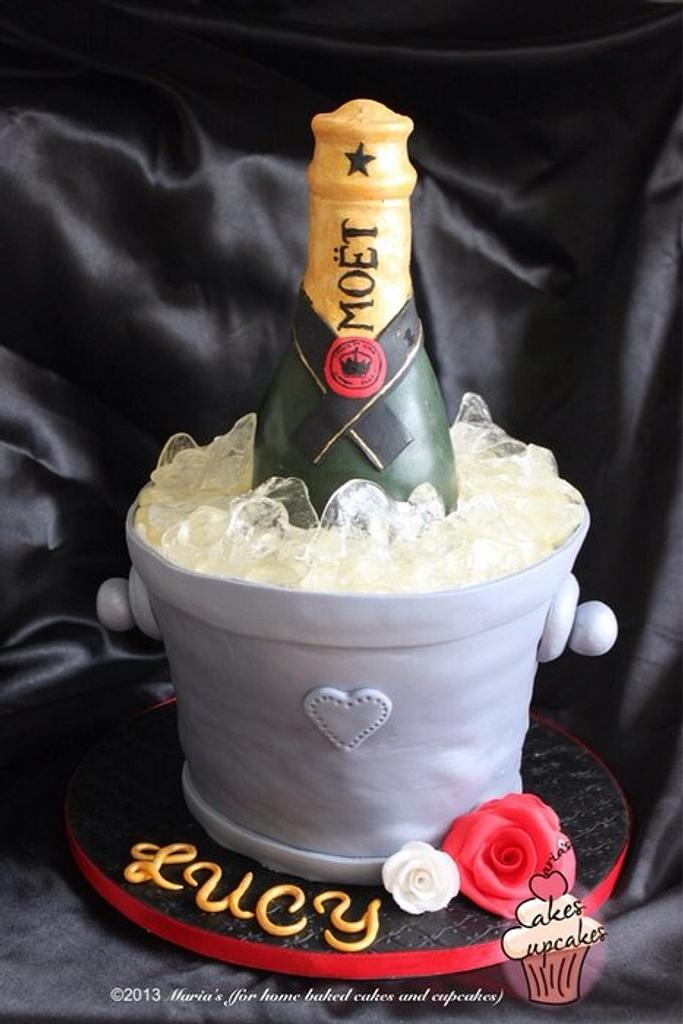 Champagne bottle cake by Maria's