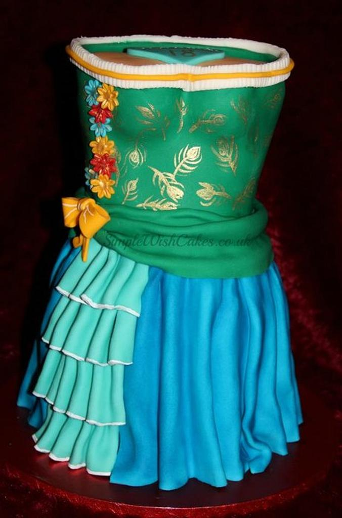 """18th """"dress"""" cake by Stef and Carla (Simple Wish Cakes)"""