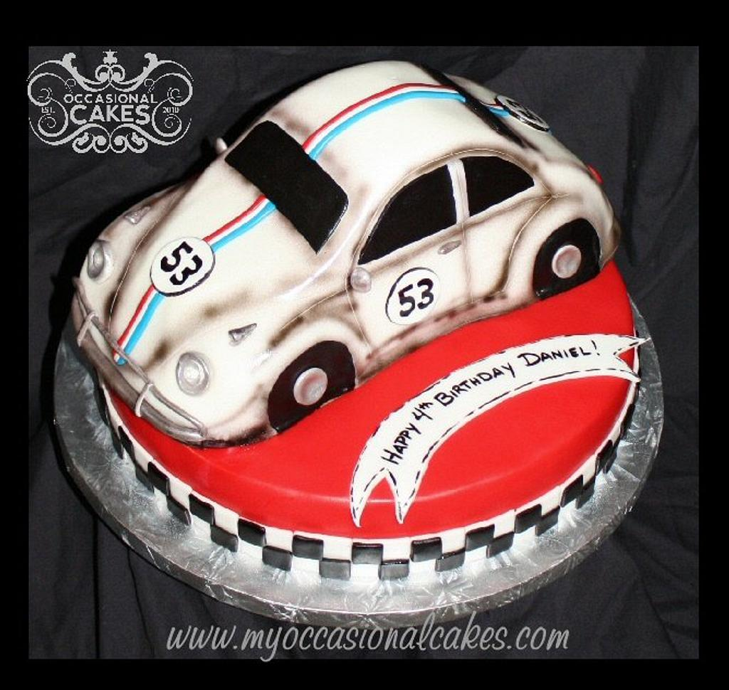 Disney's Herbie The Love Bug (TM) cake by Occasional Cakes