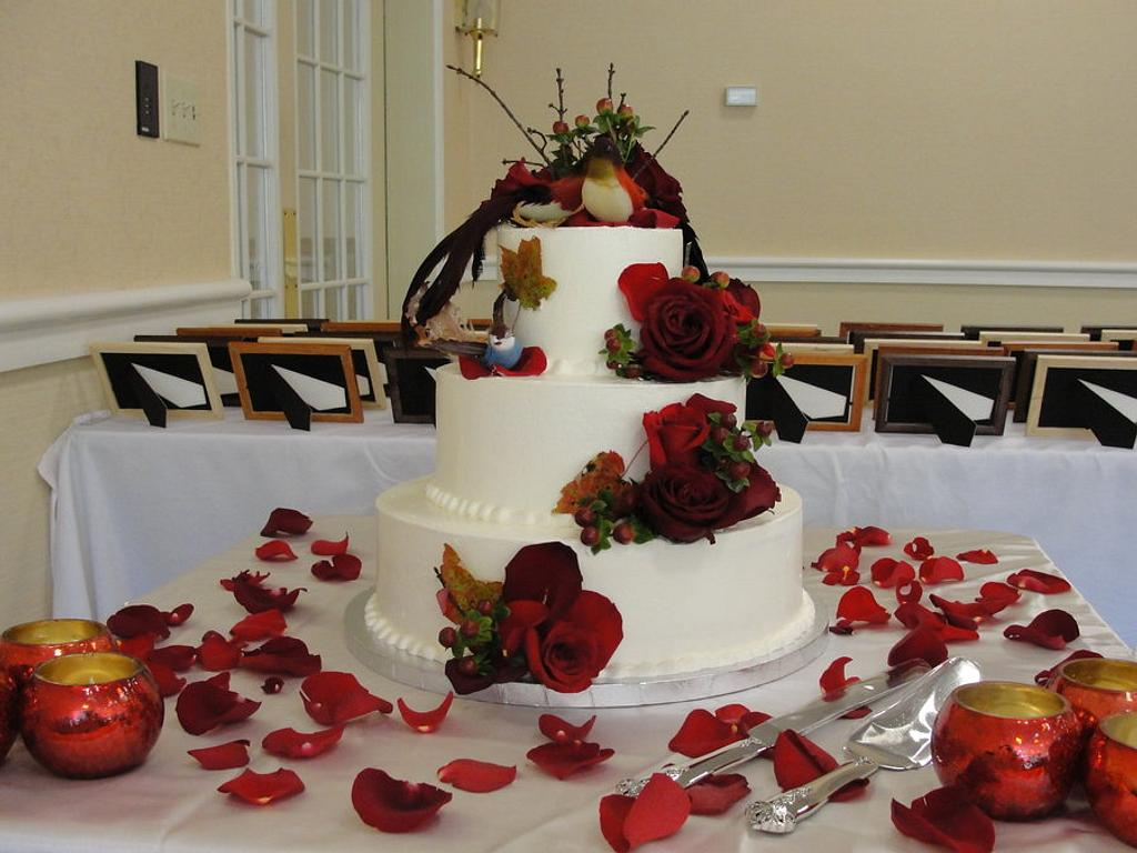 Red's wedding cake by pastrychefjodi