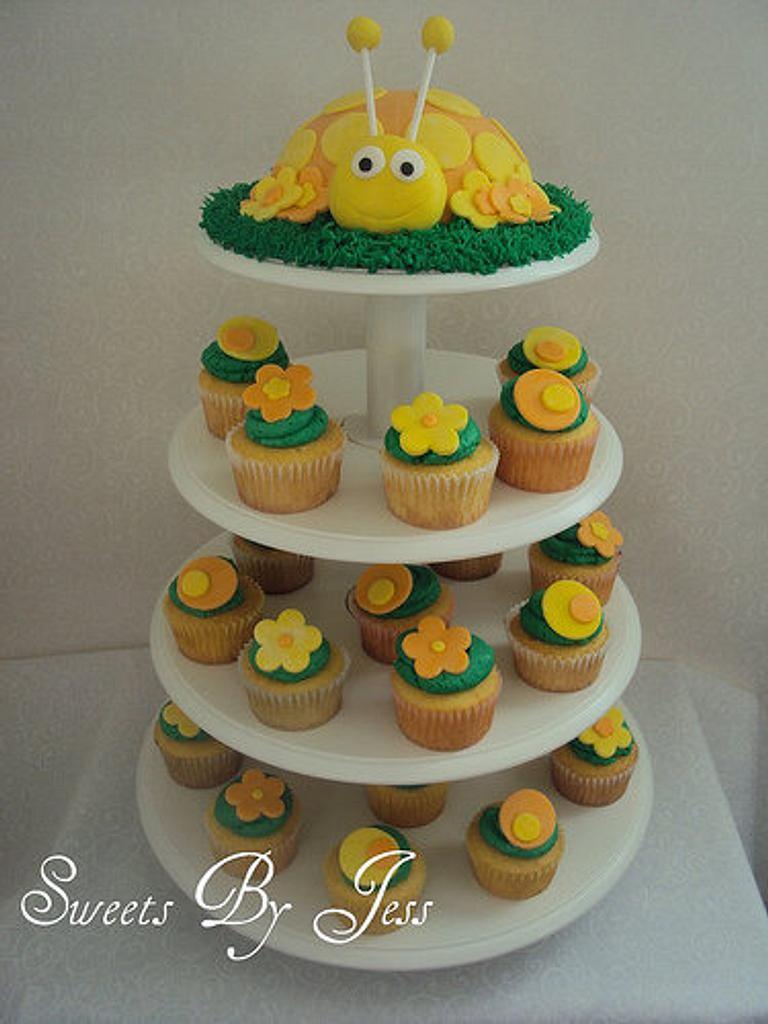 Ladybug cupcake tower by Jess B