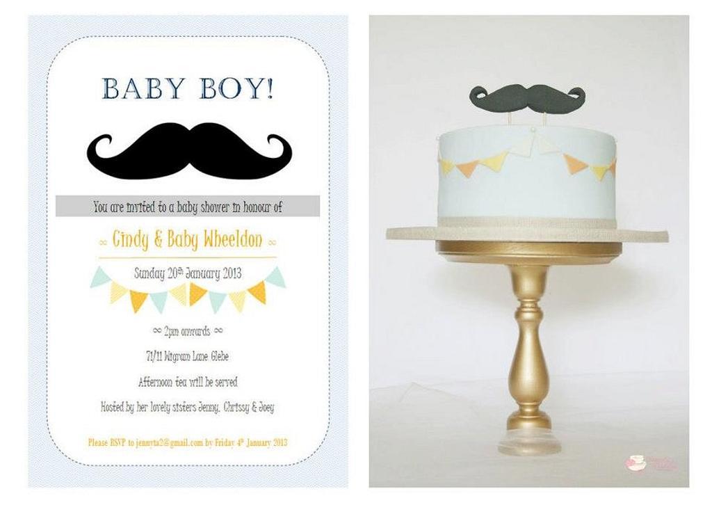 Moustache babyshower  by Patricia Tsang