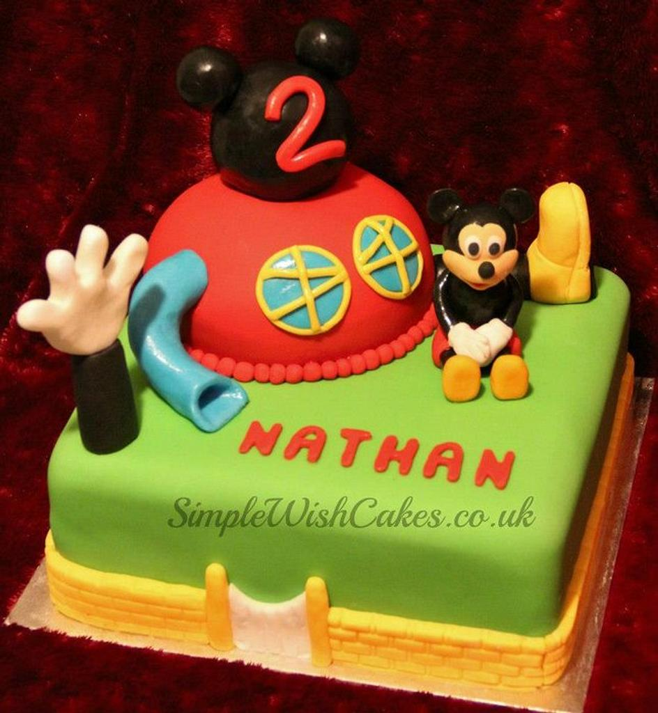 Mickey Mouse Club house Cake by Stef and Carla (Simple Wish Cakes)