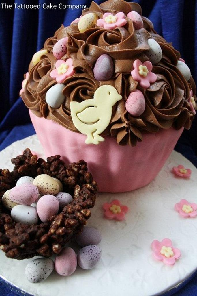 The Easter Giant Cupcakes by TattooedCake