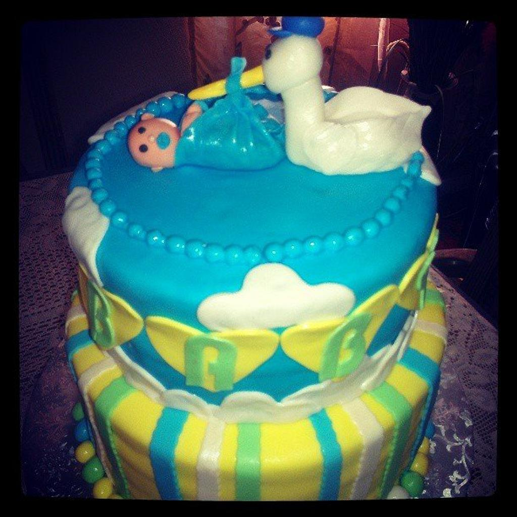 Baby Shower Cake by Rosey Mares