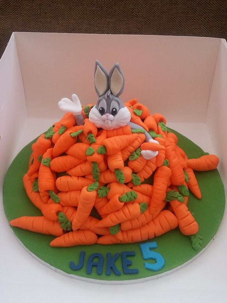 Bugs Bunny birthday cake by Elaine Bennion (Cake Genie, Cakes by Elaine)