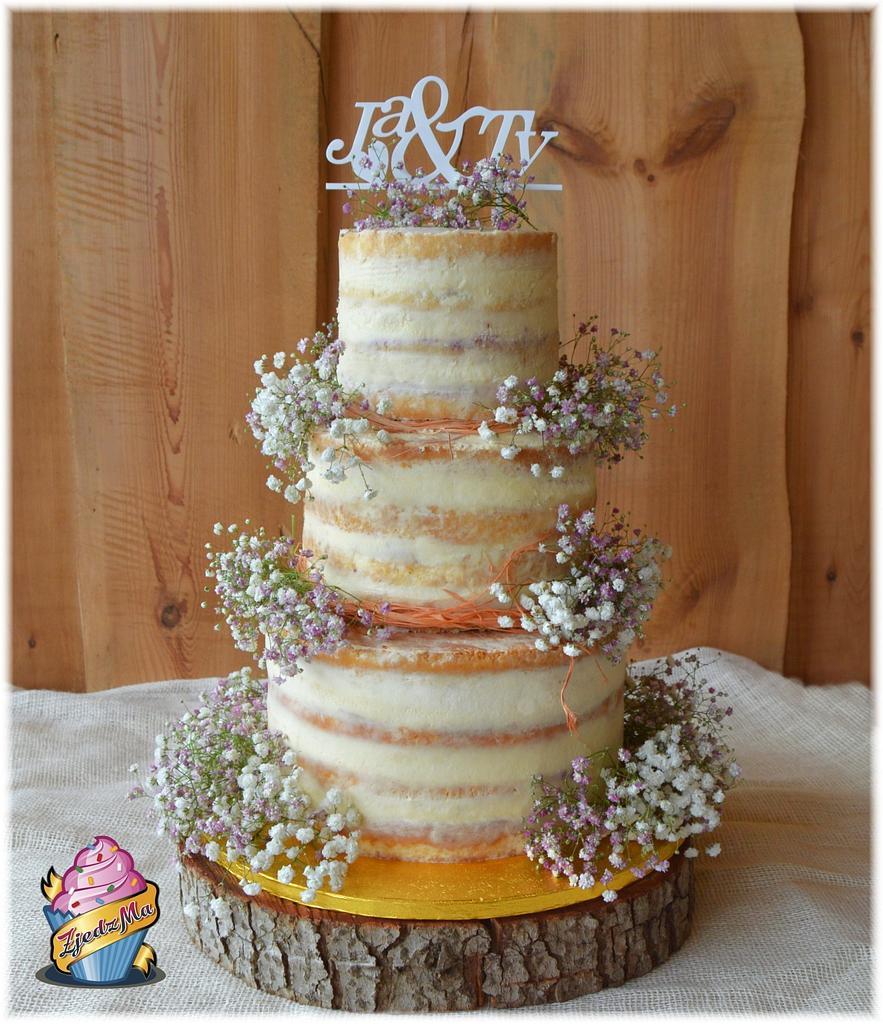 Semi naked wedding cake by zjedzma