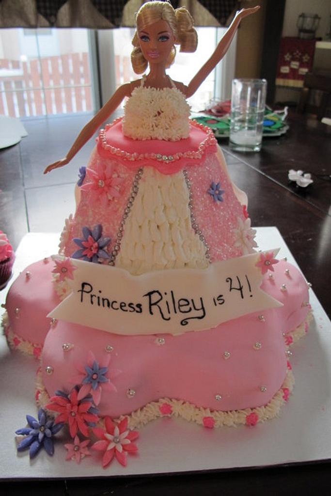 My 1st Barbie Cake~HELP by Sharon