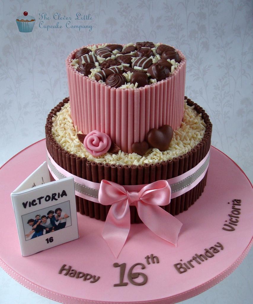 Chocolate Sweet 16 Cake by Amanda's Little Cake Boutique