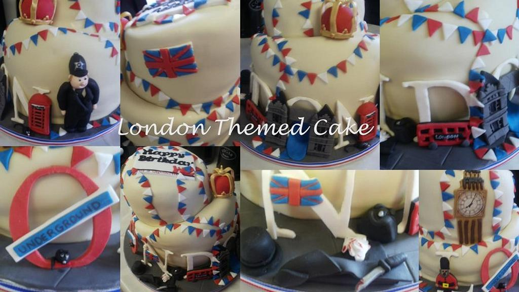 London themed Wonky Cake  by TracyLouX