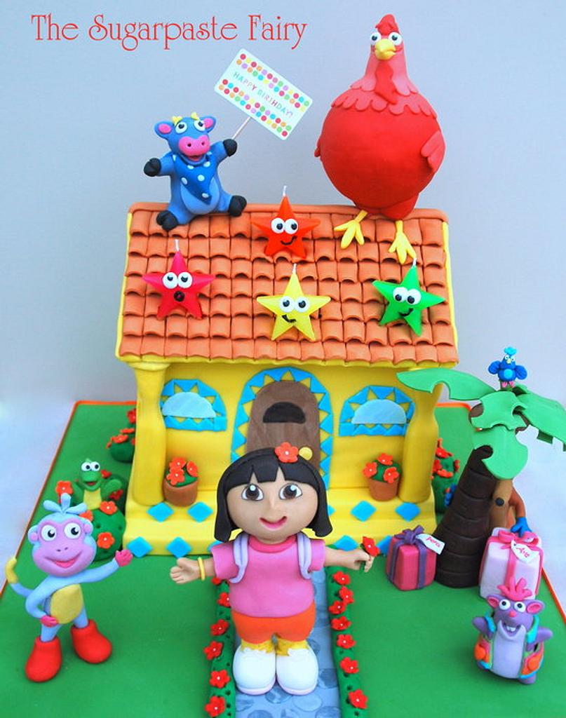Dora and friends by The Sugarpaste Fairy