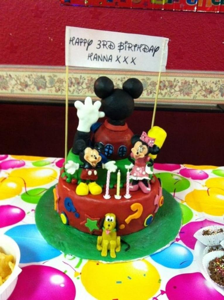 Mickey mouse clubhouse cake by Sue