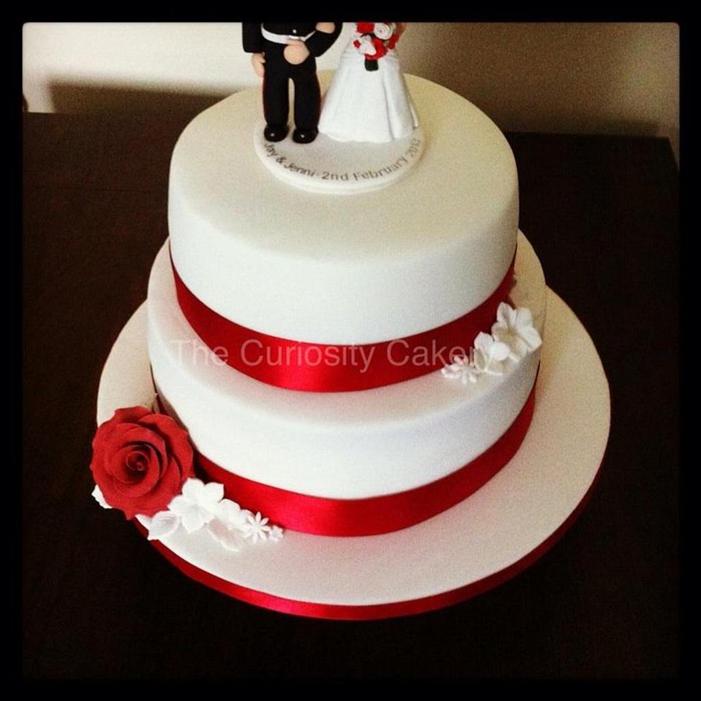 Wedding cake  by The Curiosity Cakery