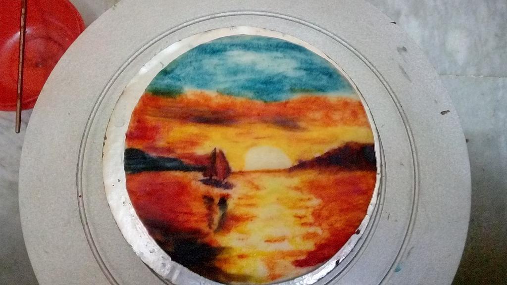 sun lying on the sea by aayotee mukhopadhyay