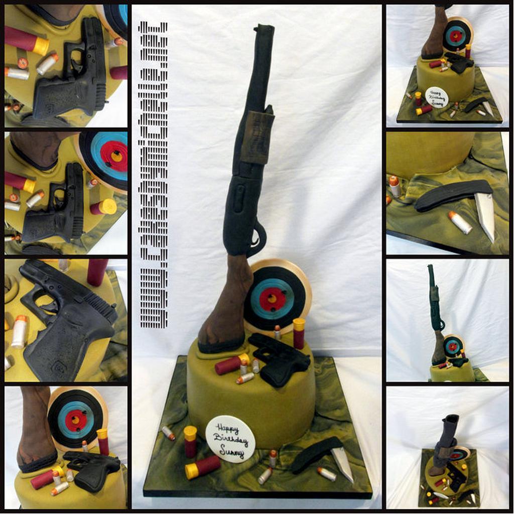 Gun cake by cakesbymichelle
