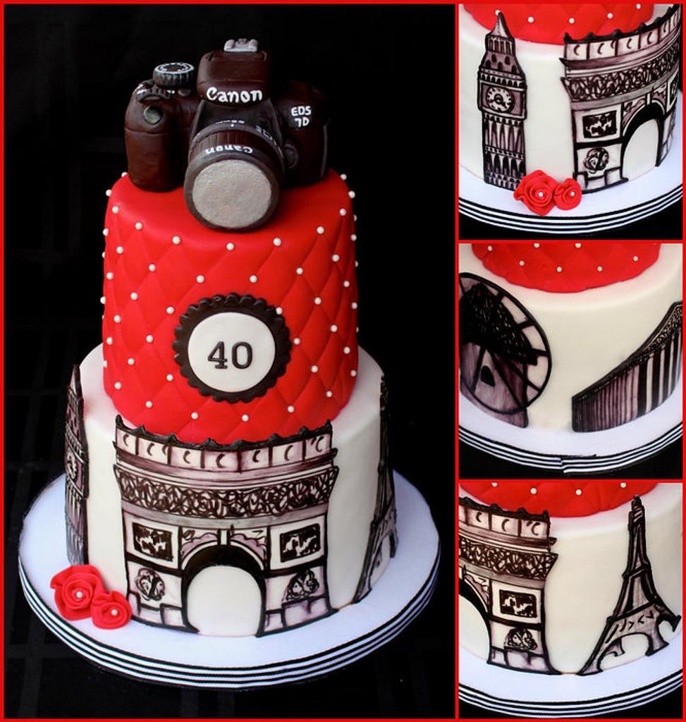World Traveler Cake by Cuteology Cakes