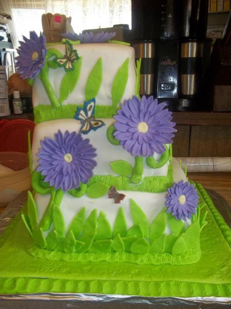 My 1st Wedding cake by Cindy White