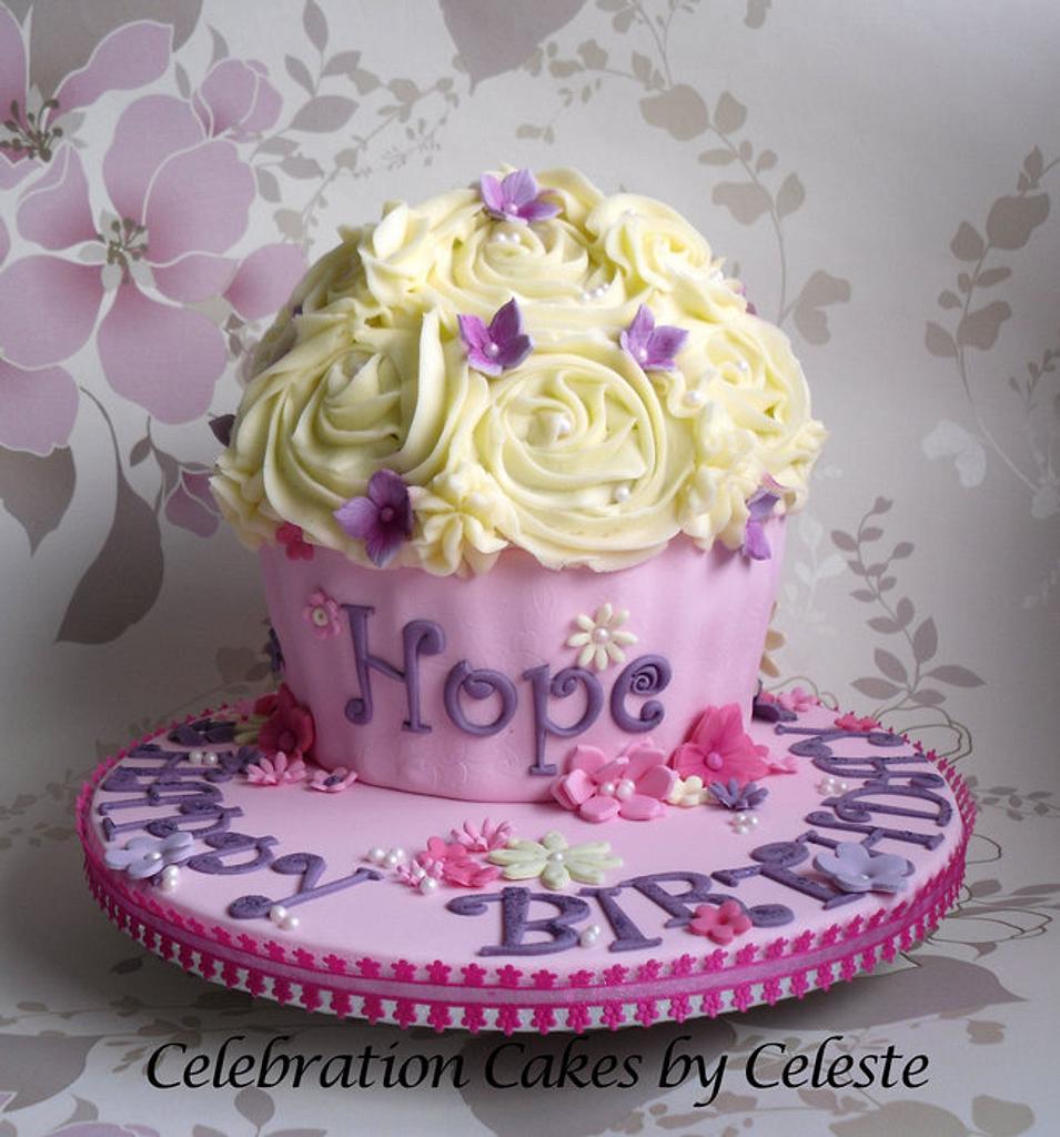 Giant cupcake birthday cake  by Celebration Cakes by Celeste