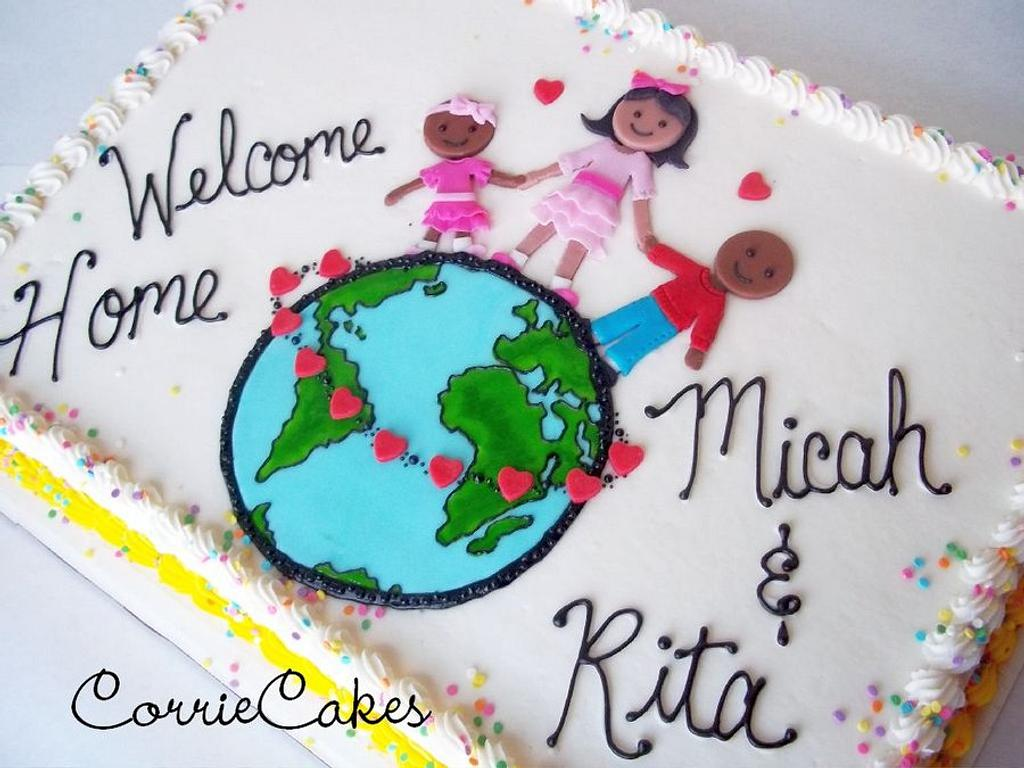 Adoption cake by Corrie