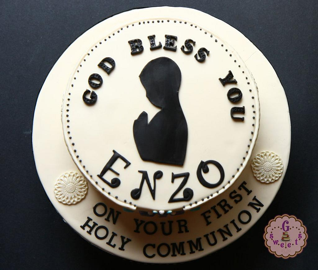 First Communion Cake by G Sweets