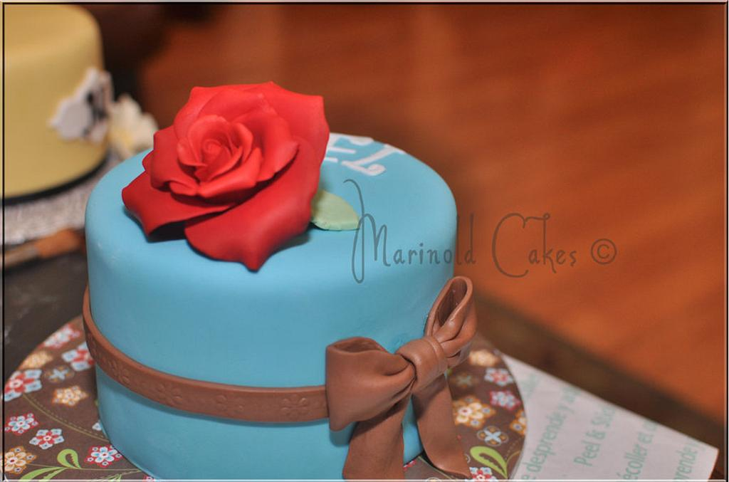 One Red Rose Mini Birthday Cake by Mavic Adamos