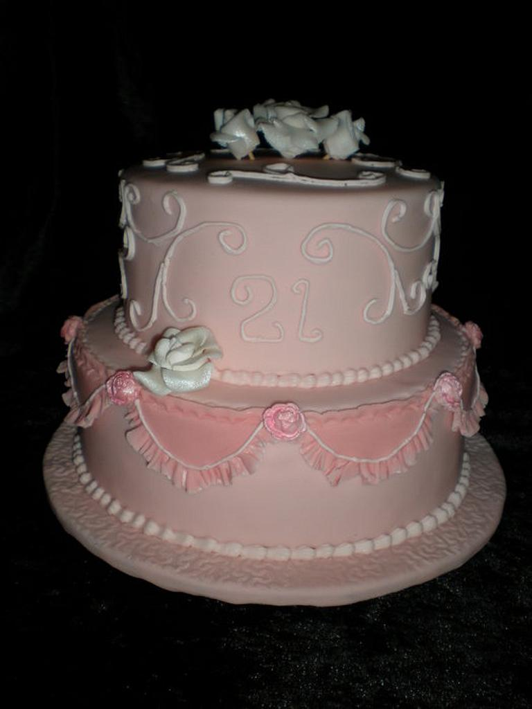 Pink 21st  by Sugarart Cakes