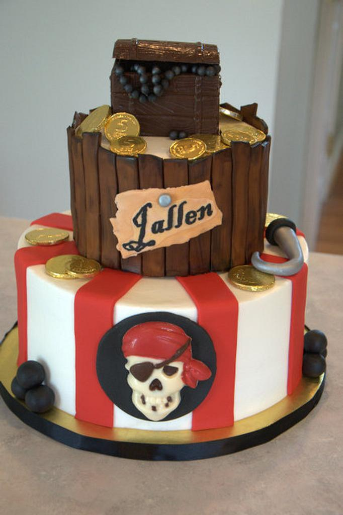 Pirate Birthday Cake by Julie
