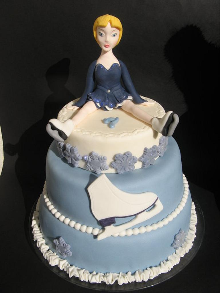 Ice Skating cake by Karin Ganassi