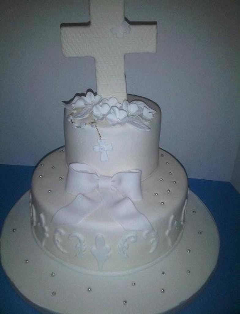 Communion Cake by Cindy