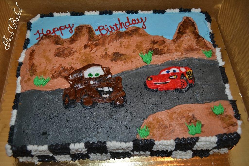 Cars Cake by Jamie Dixon