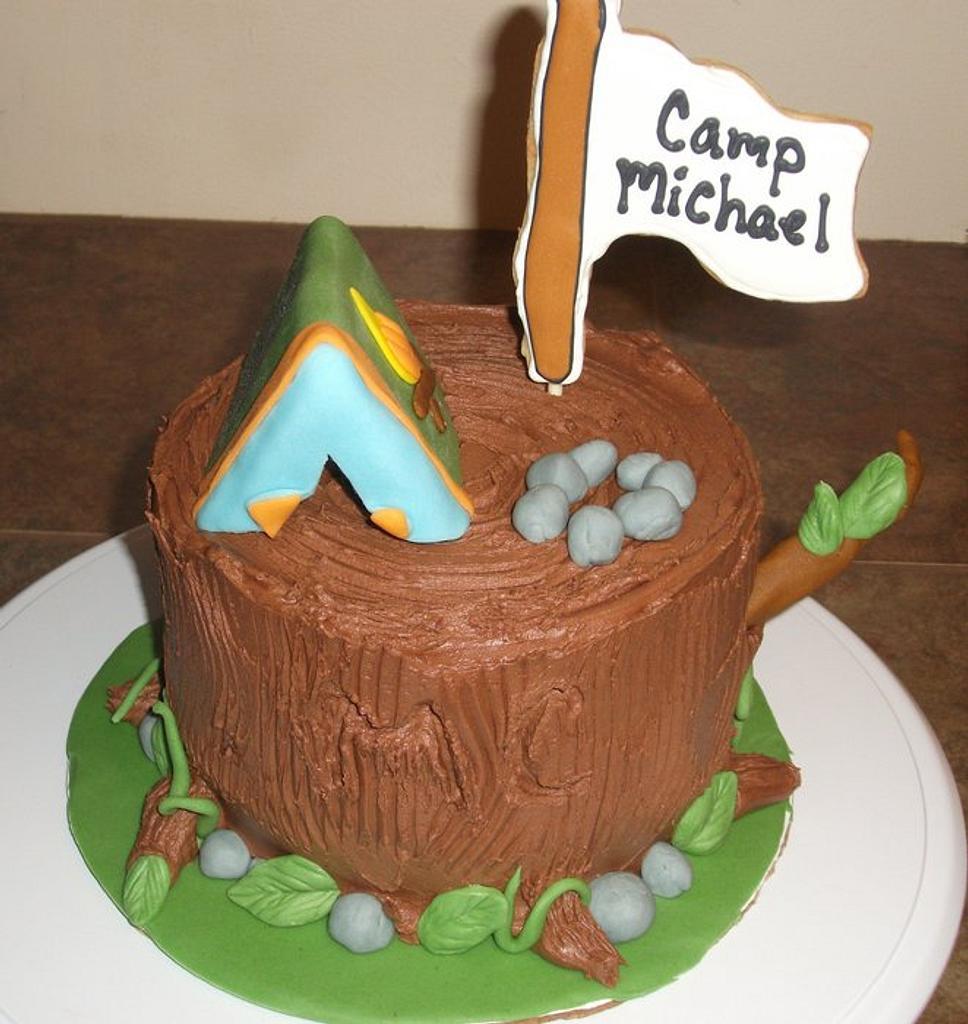 Tree Stump Birthday Cake by thesugaredapron