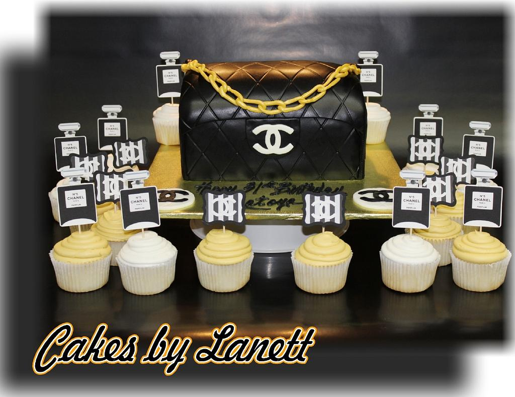 Chanel Purse Cake/Cupcakes by lanett