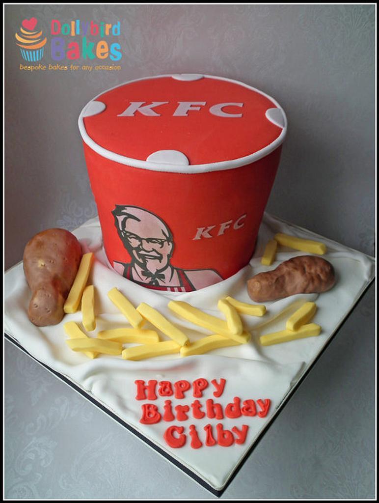 KFC Bucket Cake by Dollybird Bakes