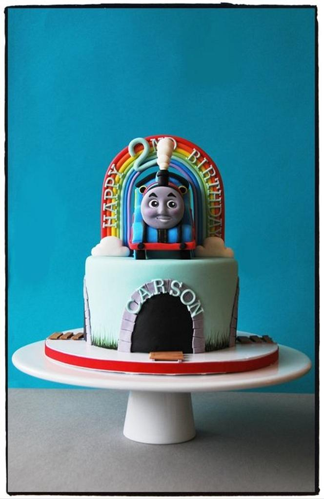 Thomas the Engine Cake by BloomCakeCo