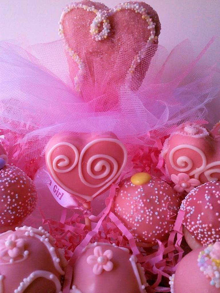 Baby Shower Cake Pops by Meg Casini